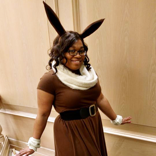 Eevee Pokemon cosplay by Cosplayer KittieOnALeash