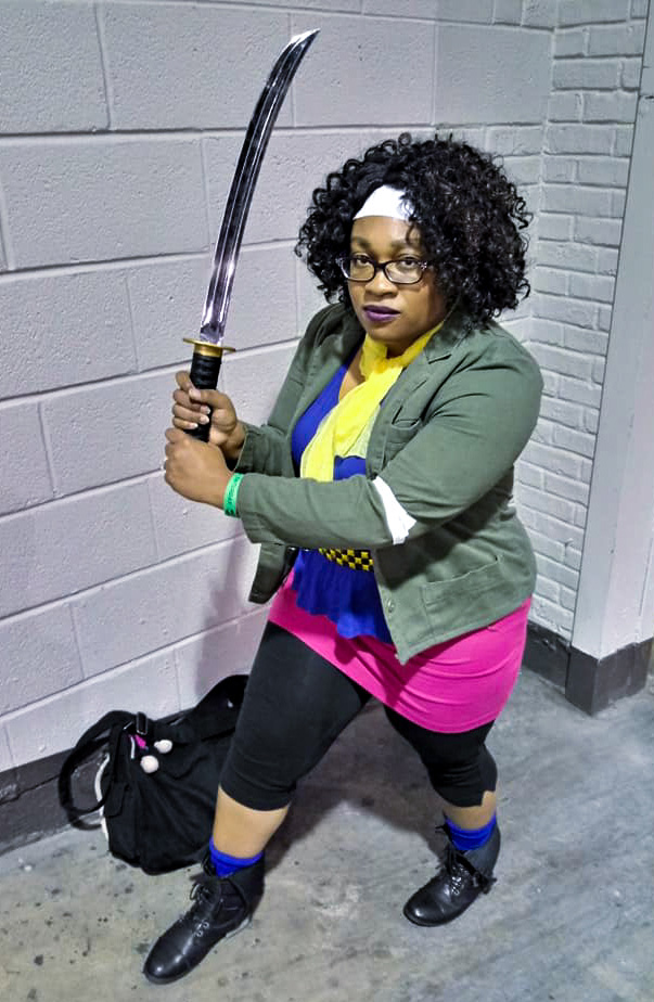 Michonne - The Walking Dead Comic cosplay by cosplayer KittieOnALeash