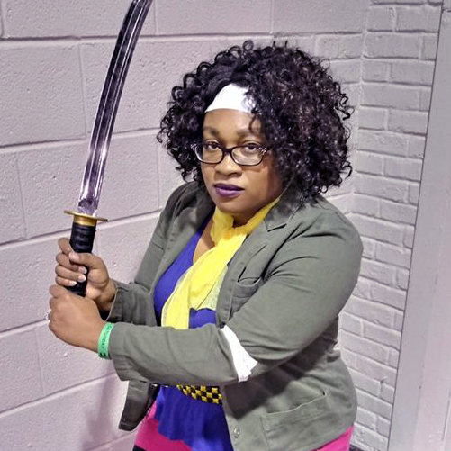 Michonne The Walking Dead Comic cosplay by cosplayer KittieOnALeash